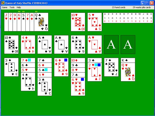 Queen of Italy, solitaire, free, card, game